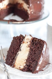 Salted Chocolate Ganache Ding Dong Cake