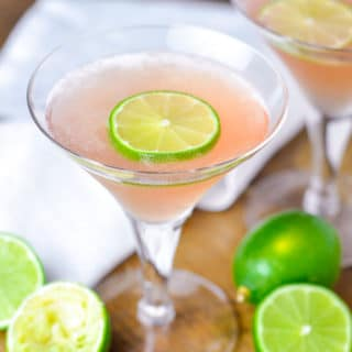 Lime Cucumber Cosmo is the epitome of an refreshing cocktail made with cucumber vodka, fresh lime juice, triple sec, and cranberry juice. http://www.mamagourmand.com