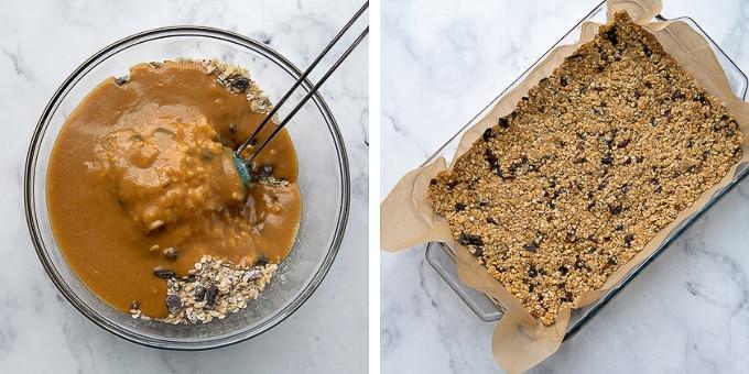 how to make chocolate chip granola bars