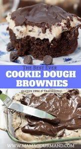 cookie dough brownie pinterest