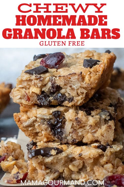 peanut butter granola bars pinterest pin