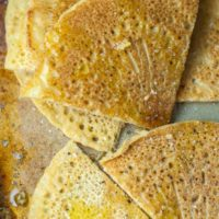 Socca chickpea flatbread is a naturally gluten free bread recipe that can be used for a great tasting gluten free pizza crust. https://www.mamagourmand.com