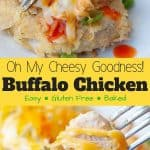 baked buffalo chicken pinterest pin
