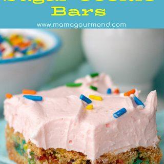 Sugar Cookie Bars pinterest pin
