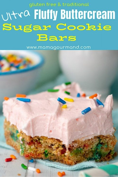 Sugar Cookie Bars pinterest pin