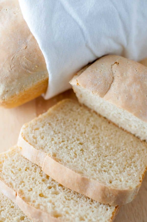 Easy English Muffin Bread is a quick and easy introduction to yeast bread making. It only requires one rise, so you'll be enjoying delicious homemade bread in no time at all! https://www.mamagourmand.com