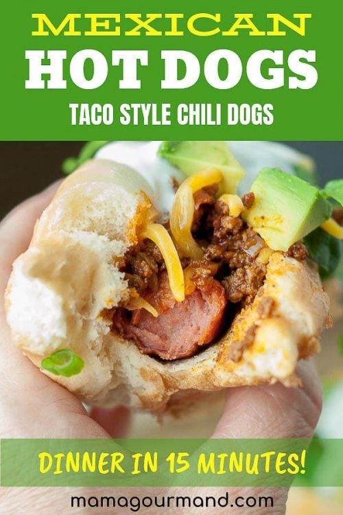 mexican hot dogs pinterest