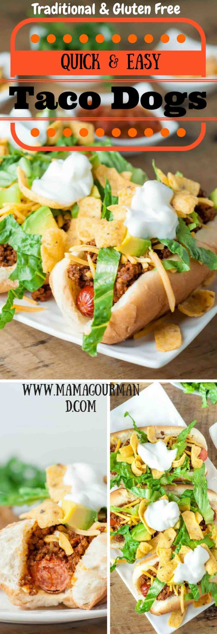 These Quick and Easy Taco Dogs only have a few ingredients and are so simple to throw together. With how easy they are to make, it's hard to believe how out-of-this-world amazing they are! https://www.mamagourmand.com