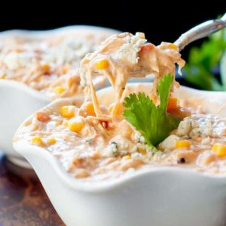 Slow Cooker Creamy Buffalo Chicken Chili