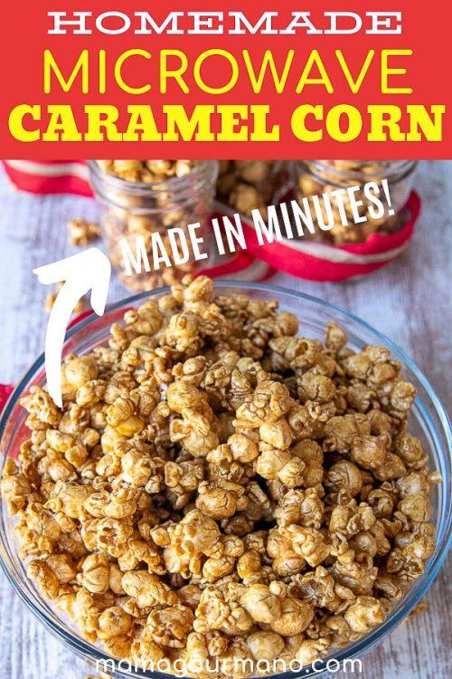 caramel corn recipe pin