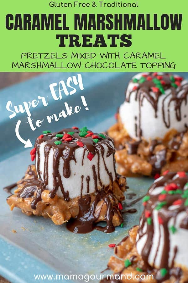 caramel marshmallow treats pinterest pin