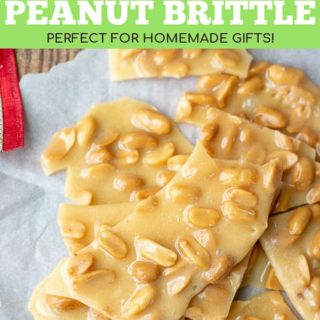 how to make peanut brittle pinterest pin
