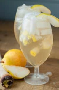 Pear Ginger Vodka Cocktail