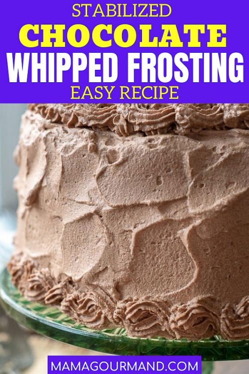 chocolate whipped cream frosting pin