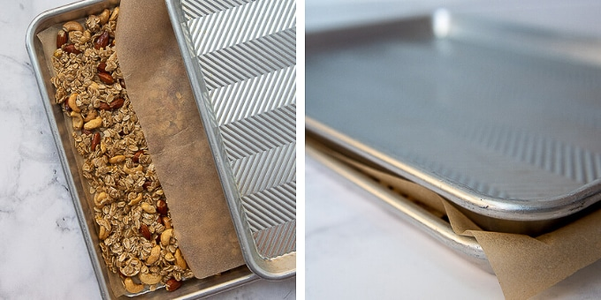 images showing how to make homemade granola recipe