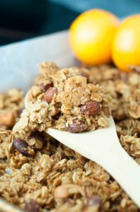 Chewy Orange Spiced Granola