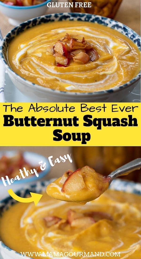 roasted butternut squash soup pinterest