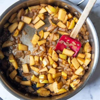 sauteed onions and apples