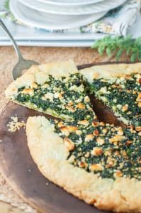 Spinach Cheese Galette Tart