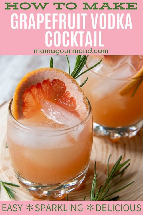 grapefruit vodka cocktail pin