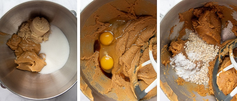 images showing how to make peanut butter cookies