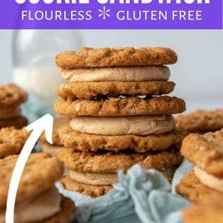 peanut butter cookie sandwiches pin