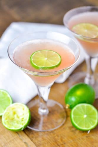 Lime Cucumber Cosmo is the epitome of an refreshing cocktail made with cucumber vodka, fresh lime juice, triple sec, and cranberry juice. https://www.mamagourmand.com