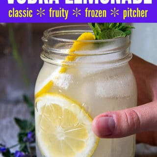 Vodka Lemonade pinterest pin
