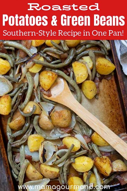 Roasted Potatoes and Green Beans pinterest