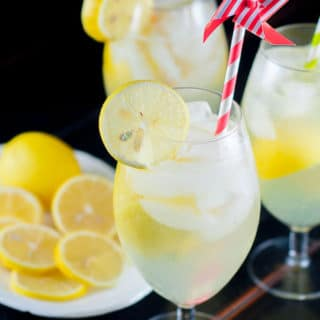 Spiked Lemon Shake-Up Cocktail