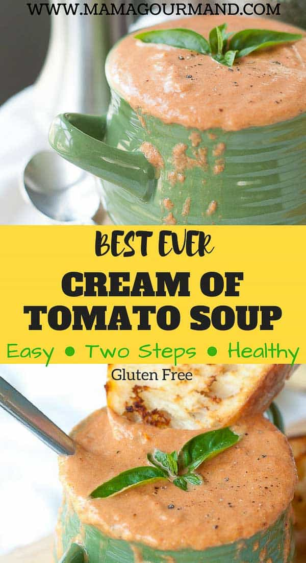 cream of tomato soup recipe pinterest pin