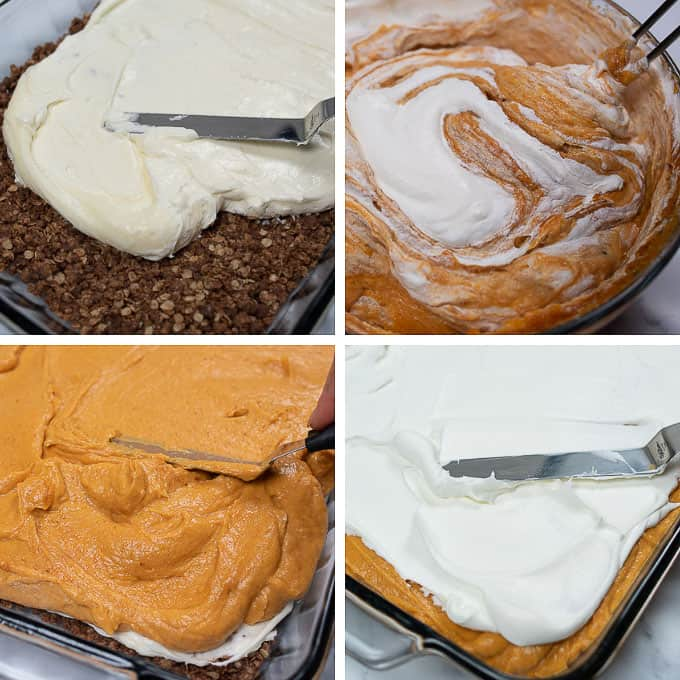 pumpkin delight collage showing steps of how to make it