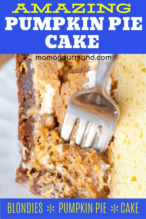 Pumpkin Pie Cake pinterest