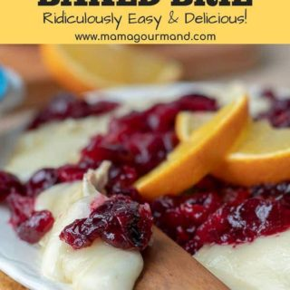 baked brie cranberry appetizer pinterest