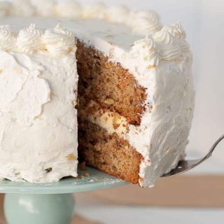 Pineapple Carrot Cake with Fluffy Pineapple Whipped Cream Frosting