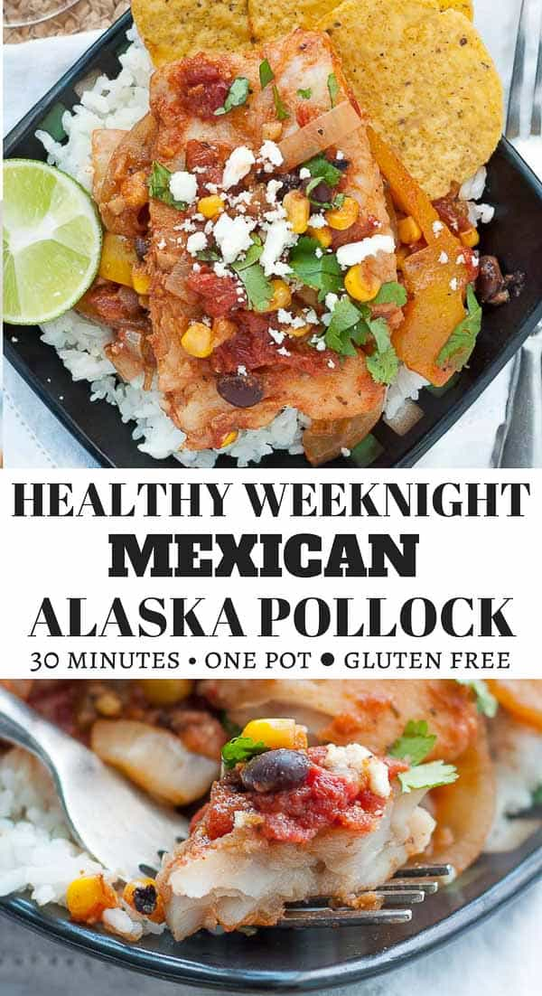 Healthy Weeknight Mexican Alaska Pollock Fish is a naturally gluten free, one pot, easy to follow recipe that takes less than 30 minutes to make. This easy fish recipe is full of flavor and an absolute favorite kid and family favorite meal. #AskForAlaska, #IC, #ad #healthyfish #onepot #quick #easy #weeknight #pollock #fish #mexican https://www.mamagourmand.com