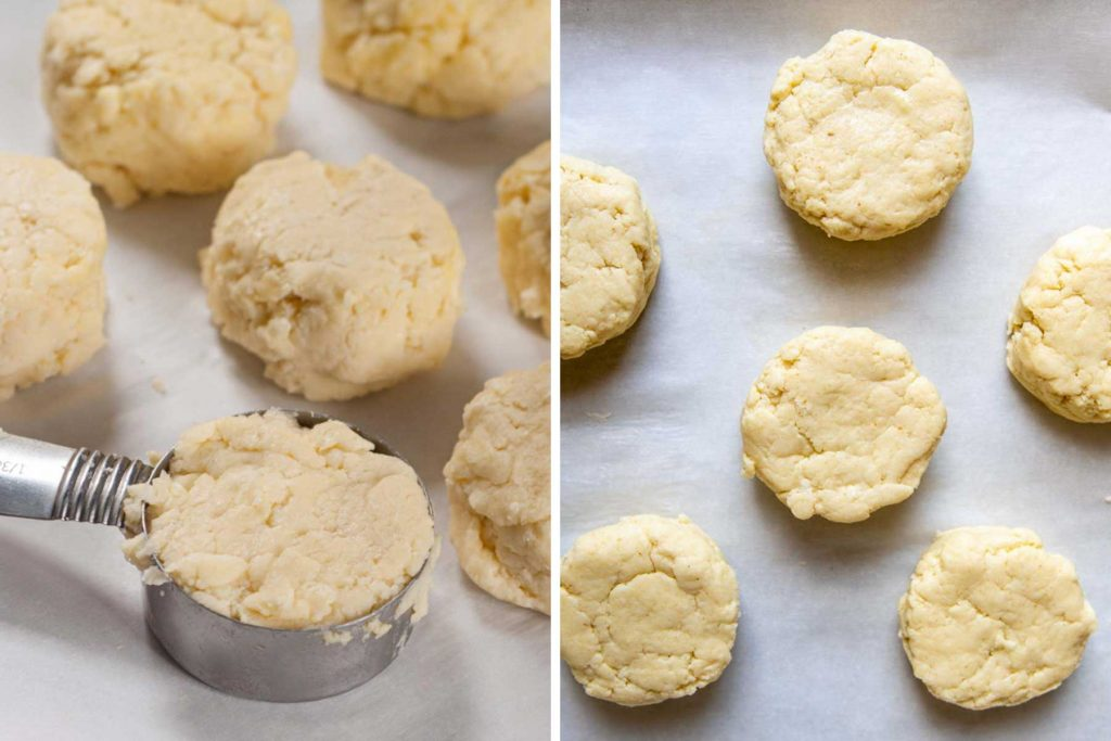 images showing how to make gluten-free biscuits