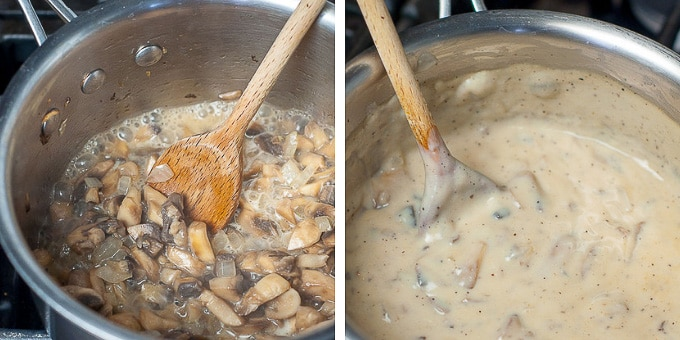 photos showing how to make homemade sauce for tuna noodle casserole from scratch