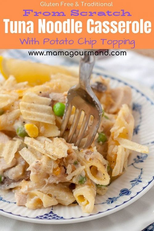 tuna noodle casserole from scratch pinterest pin