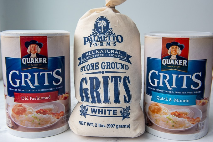 image showing the different types of grits you can buy