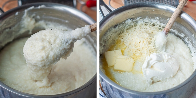 images showing how to make grits