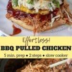 BBQ pulled chicken pinterest pin