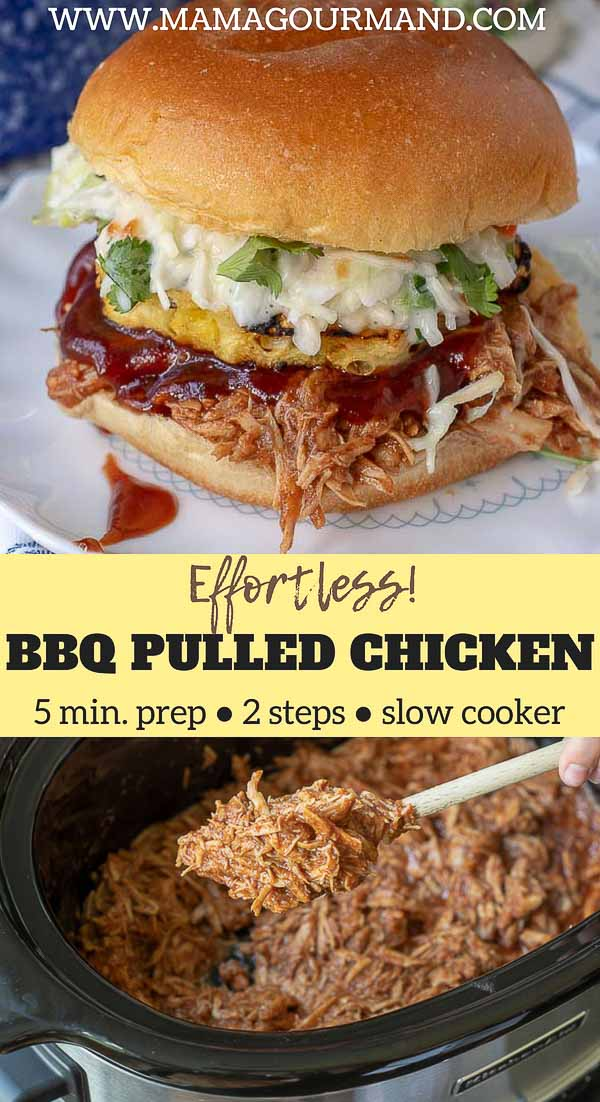 BBQ pulled chicken pinterest pin