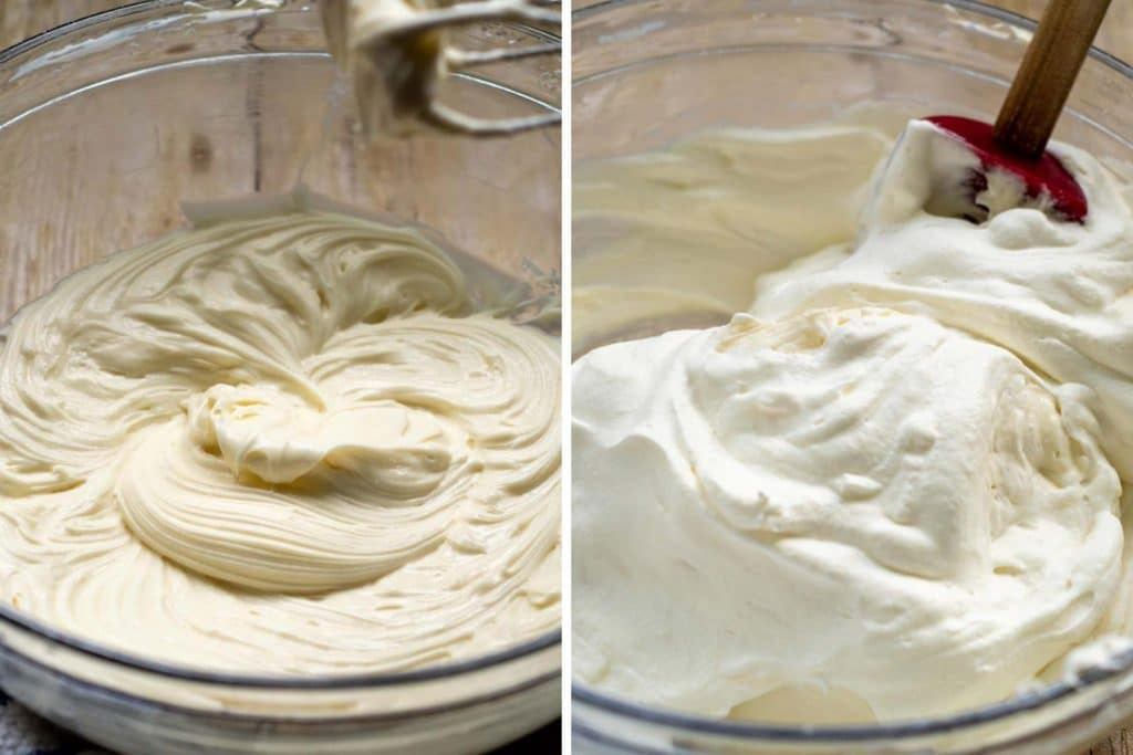 images showing how to make cream cheese frosting for brownies