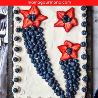 red, white, and blue brownies pinterest pin