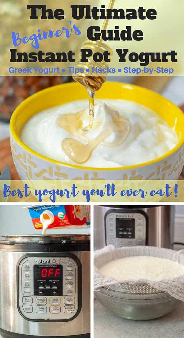 The ULTIMATE GUIDE forHow to Make THE BEST Instant Pot Yogurt has all the tips and tricks out there for achieving the most mind-blowing homemade yogurt you'll ever taste. Incredibly simple-to-makeInstant Pot yogurt tastessmooth, creamy, and decadent, like eating a bowl of whipped cream without the calories! #instantpot #yogurt #greek #easy https://www.mamagourmand.com