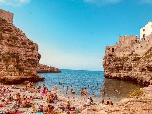 beach in Polignano a Mare