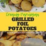 grilled foil potatoes pinterest pin
