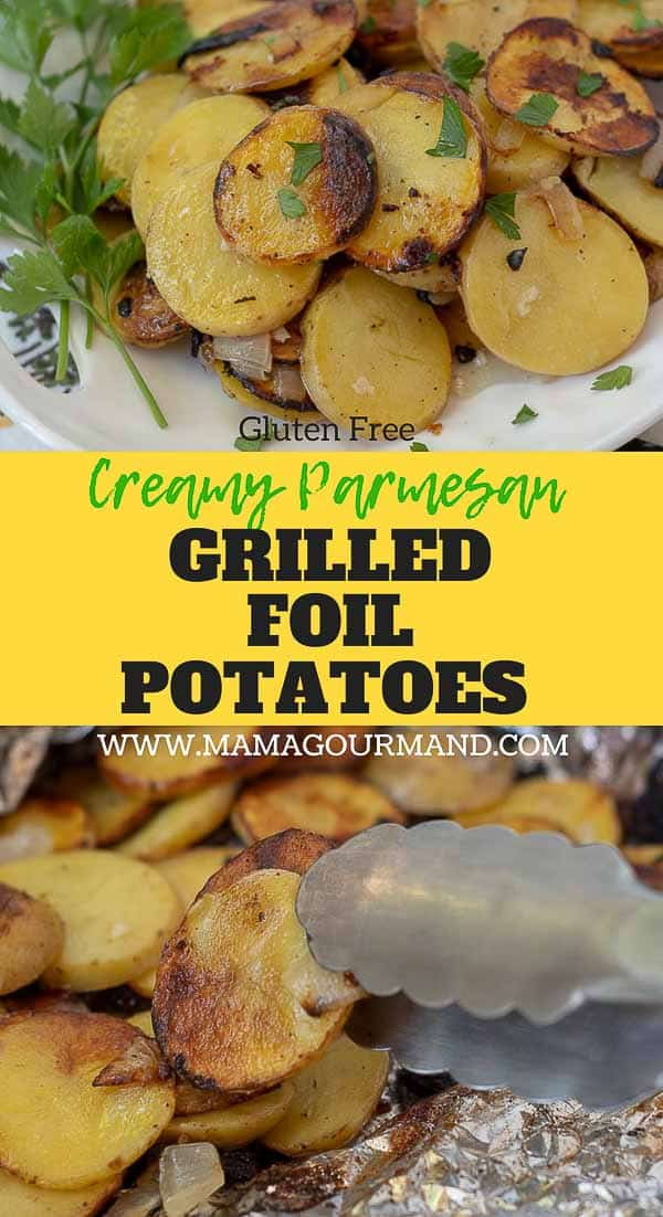 grilled foil potatoes pinterest pin