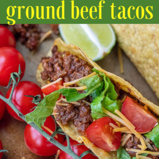sweet and spicy ground beef taco pin